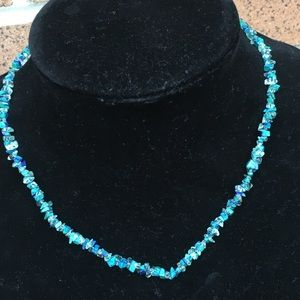 Vintage sterling chrysocolla healing necklace